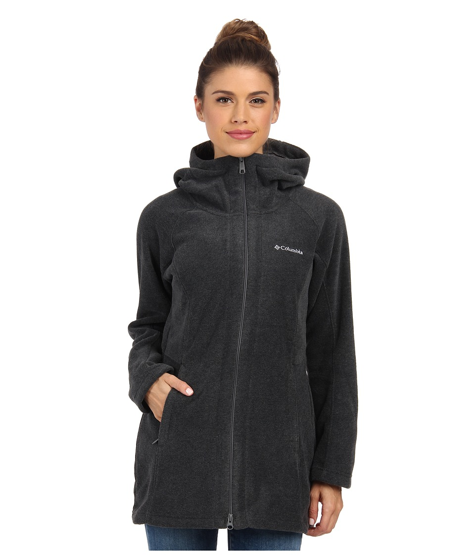 Columbia - Benton Springs II Long Hoodie (Charcoal Heather) Women's Coat