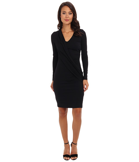 Nicole Miller - Draped Front Jersey Dress (Navy) Women's Dress