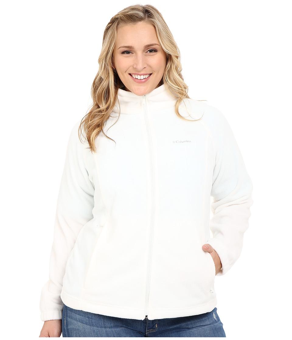 Columbia - Plus Size Benton Springstm Full Zip (Sea Salt) Women's Sweatshirt