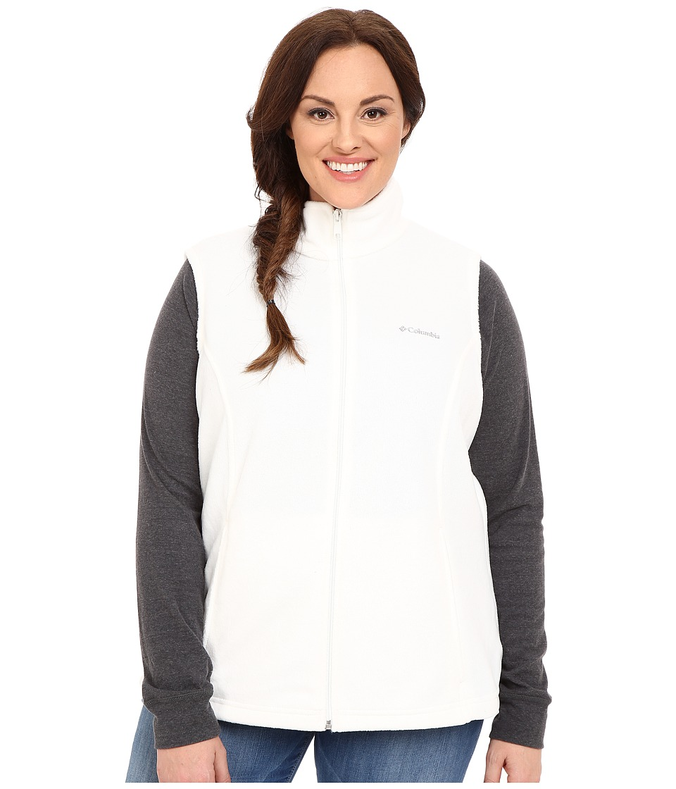 Columbia - Plus Size Benton Springs Vest (Sea Salt) Women's Vest