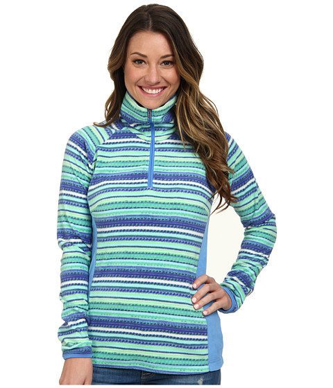 Columbia - Glacial Fleece III Print 1/2 Print (Harbor Blue Tweed Stripe) Women
