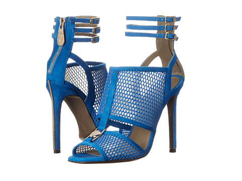 Versace Collection - Perforated Strappy Sandal (Bluette) Women's Sandals