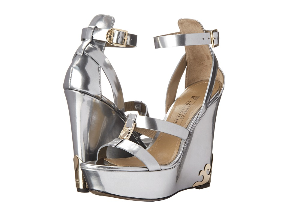 Versace Collection - Metallic Wedge Sandal (Argento) Women's Wedge Shoes