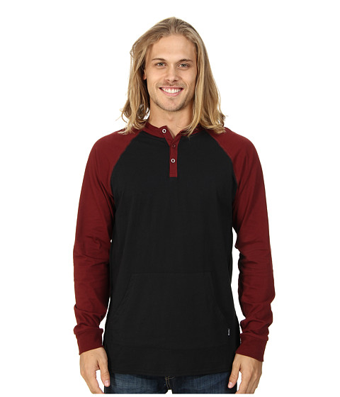 Tavik - Barton Shirt (Jet Black) Men's Long Sleeve Button Up