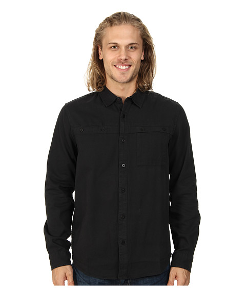 Tavik - Shin (Jet Black) Men's Long Sleeve Button Up