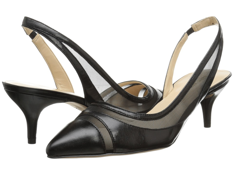 Nine West - Howdy (Black/Black Leather) Women's 1-2 inch heel Shoes