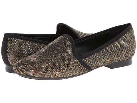 Nine West - Lobster (Gold Multi/Black Fabric) Women's Slip on Shoes