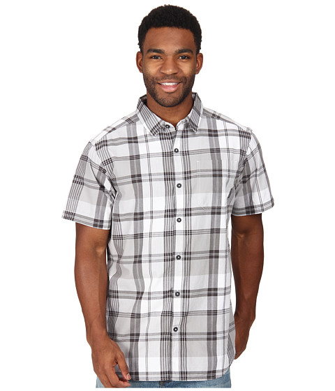 Columbia - Thompson Hill II Yarn Dye Shirt (Columbia Grey Plaid) Men's Short Sleeve Button Up