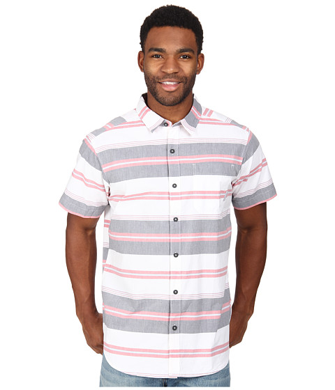 Columbia - Thompson Hill II Yarn Dye Shirt (India Ink Stripe) Men's Short Sleeve Button Up