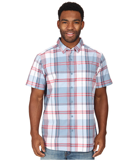 Columbia - Thompson Hill II Yarn Dye Shirt (Dark Mirage Plaid) Men's Short Sleeve Button Up