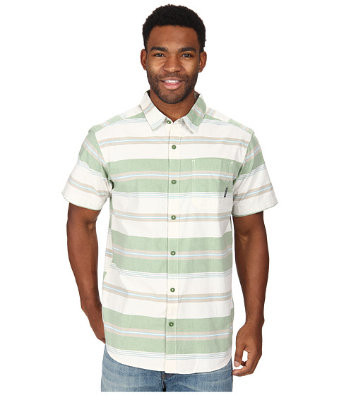 Columbia - Thompson Hill II Yarn Dye Shirt (Dark Backcountry Stripe) Men's Short Sleeve Button Up