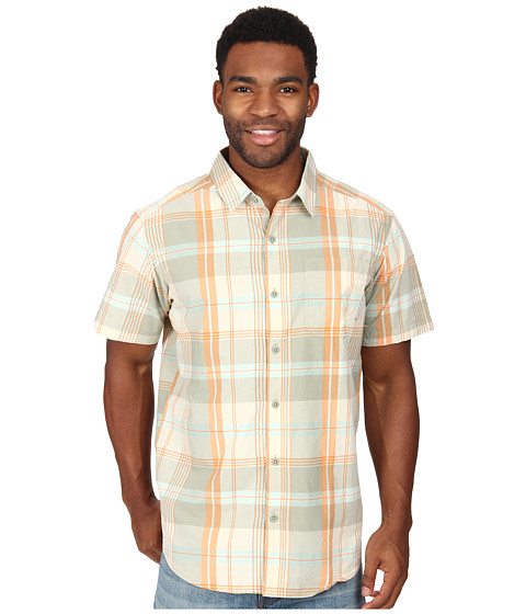 Columbia - Thompson Hill II Yarn Dye Shirt (Gulf Stream Plaid) Men's Short Sleeve Button Up