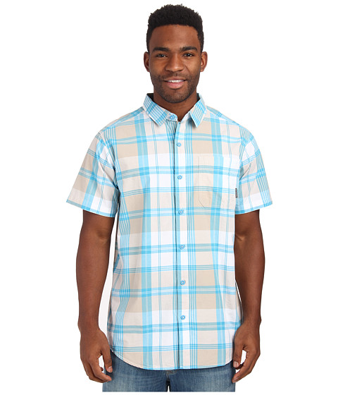 Columbia - Thompson Hill II Yarn Dye Shirt (Rapid Plaid) Men's Short Sleeve Button Up