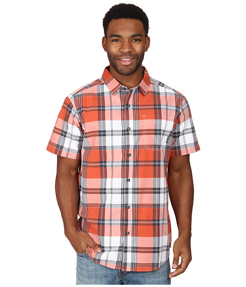 Columbia - Thompson Hill II Yarn Dye Shirt (Ignite Plaid) Men's Short Sleeve Button Up
