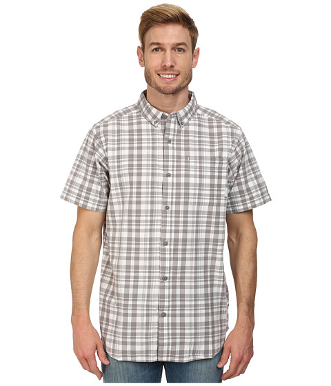 Columbia - Rapid Rivers II Short Sleeve Shirt (Light Grey Plaid) Men's Clothing