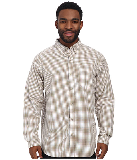 Columbia - Rapid Rivers II Long-Sleeve Shirt (Fossil Small Plaid) Men's Long Sleeve Pullover