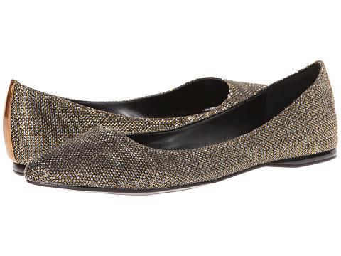 Nine West - SpeakUp (Gold Multi Fabric) Women's Dress Flat Shoes