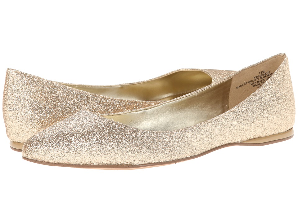 Nine West - SpeakUp (Gold Synthetic) Women's Dress Flat Shoes