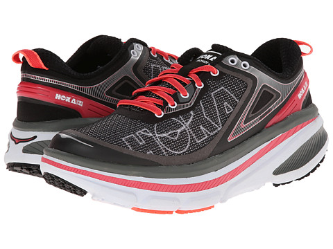 Hoka One One - Bondi 4 (Black/Paradise Pink) Women's Running Shoes
