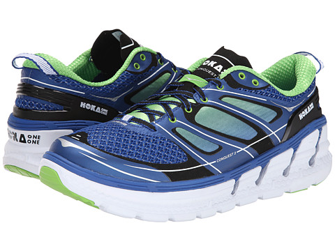Hoka One One - Conquest 2 (Blue/Green Flash/White) Men's Running Shoes