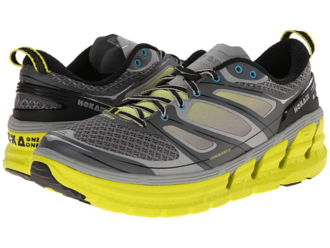 Hoka One One - Conquest 2 (Grey/Citrus/White) Men's Running Shoes