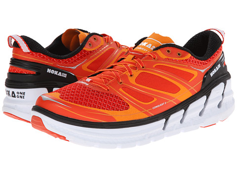 Hoka One One - Conquest 2 (Orange Flash/Persimmon/White) Men's Running Shoes