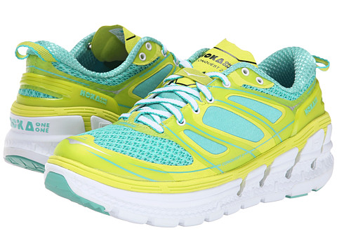Hoka One One - Conquest 2 (Acid/Waterfall) Women's Running Shoes