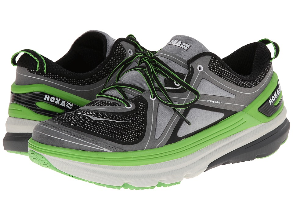 Hoka One One - Constant (Grey/Black/Green Flash) Men's Running Shoes