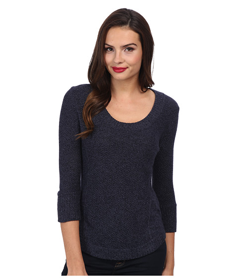 LAmade - Cashmere Scoop 3/4 Sleeve (Denim) Women