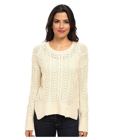 LAmade - Cutout Hem Pullover (Cream) Women