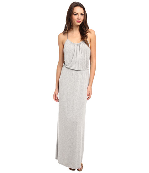 LAmade - T-Back Drape Maxi Dress (Heather Grey) Women