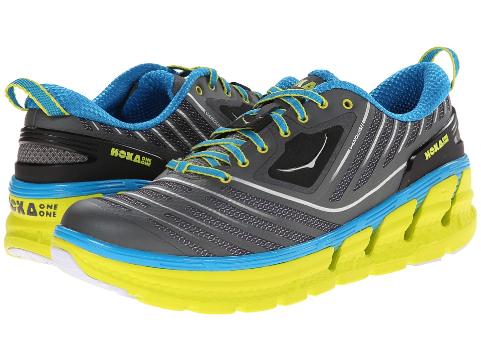 Hoka One One - Vanquish (Grey/Cyan) Men's Running Shoes