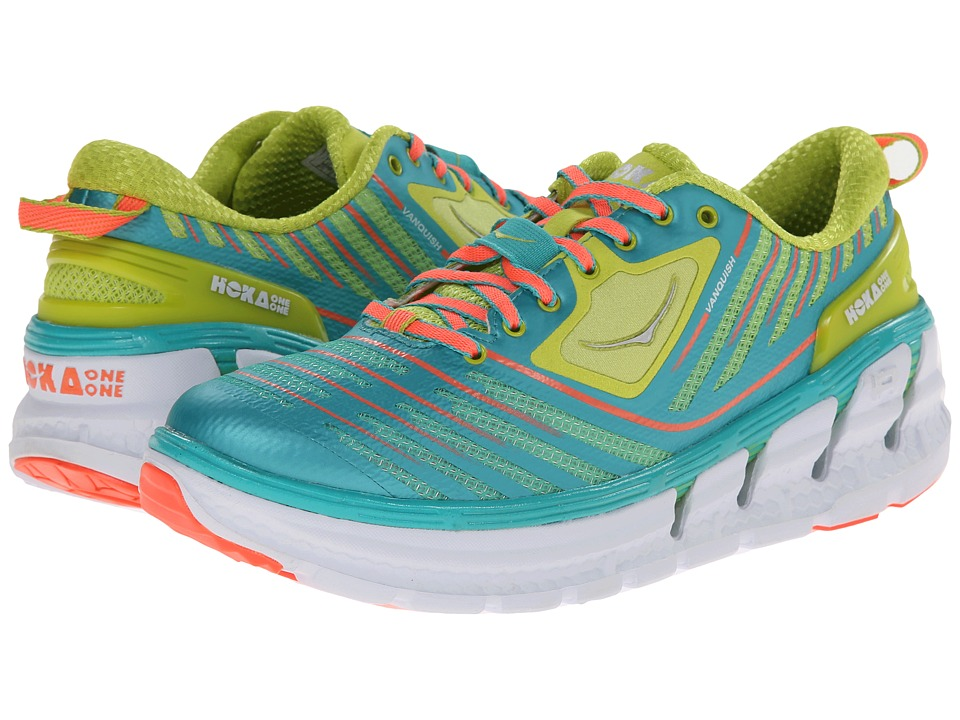 Hoka One One - Vanquish (Acid/Aqua/Neon Coral) Women's Running Shoes