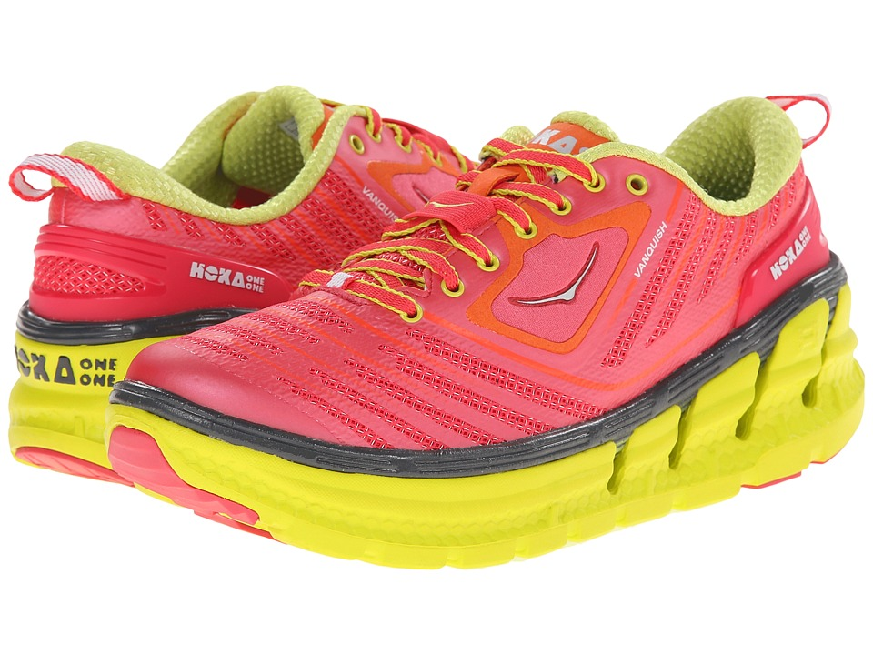 Hoka One One - Vanquish (Paradise Pink/Citrus) Women's Running Shoes