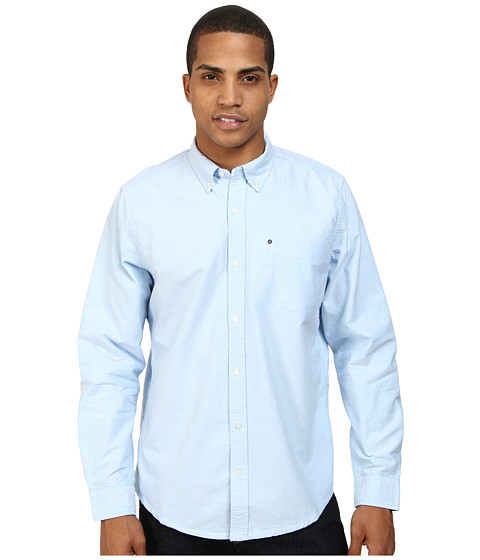 Hurley - Ace Oxford 2.0 L/S Top (Blue Oxford) Men