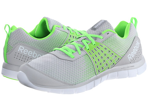 Reebok - Z Dual Rush (Steel/Solar Green/White) Men's Cross Training Shoes
