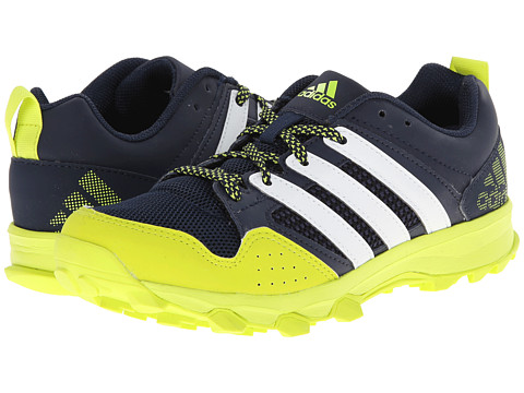 adidas Kids - Kanadia 7 TR K (Little Kid/Bid Kid) (Collegiate Navy/White/Semi Solar Yellow) Boys Shoes