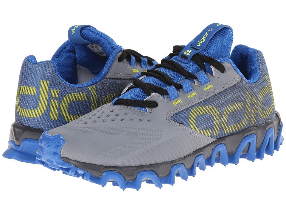 adidas Kids Vigor 5 TR K (Little Kid/Big Kid) (Grey/Semi Solar Yellow/Bright Royal) Boys Shoes