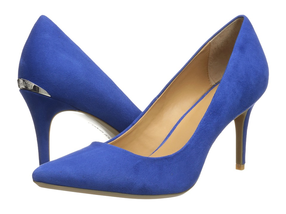 Calvin Klein - Gayle (Bright Blue Suede) High Heels