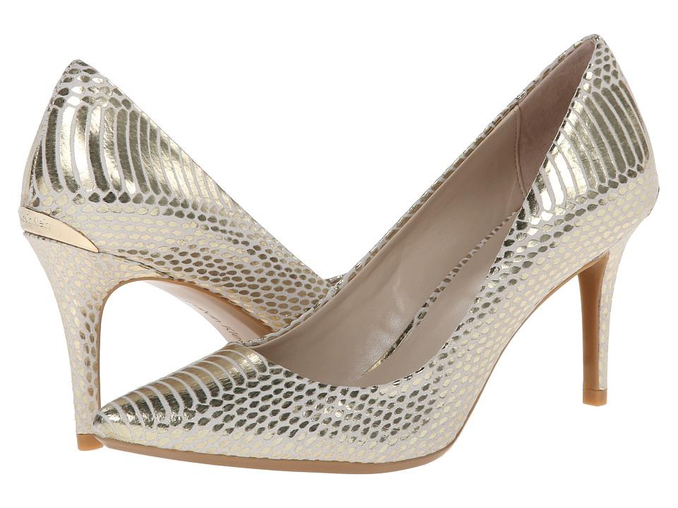 Calvin Klein - Gayle (White/Gold) High Heels