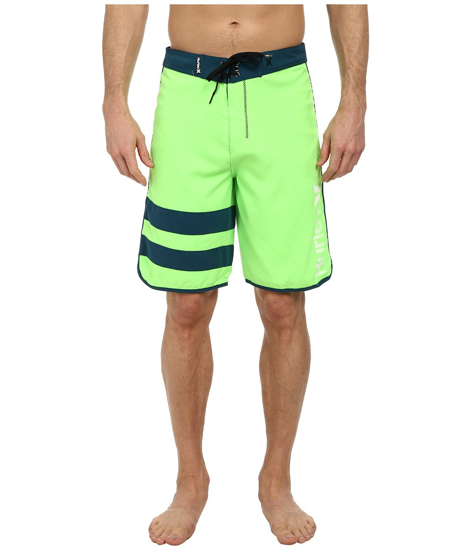 Hurley - Block Party Core Boardshort (Flash Lime) Men's Swimwear