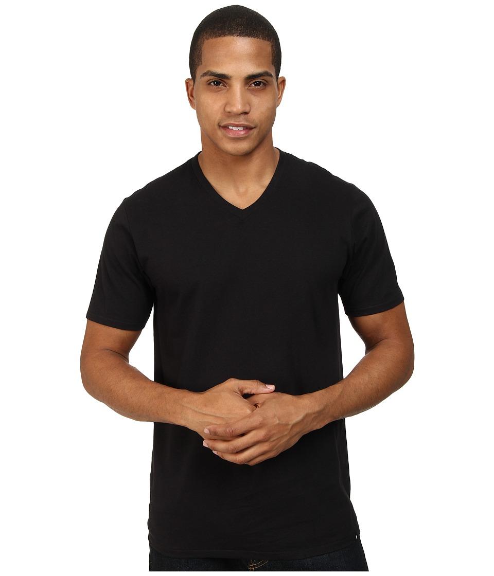 Hurley - Staple V-Neck Tee (Black) Men's Short Sleeve Pullover