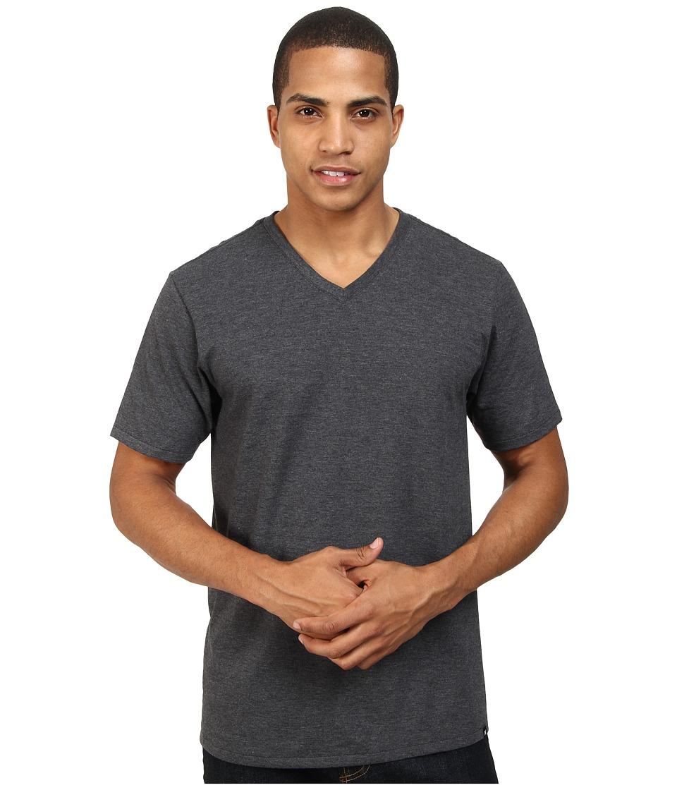 Hurley - Staple V-Neck Tee (Heather Black) Men's Short Sleeve Pullover