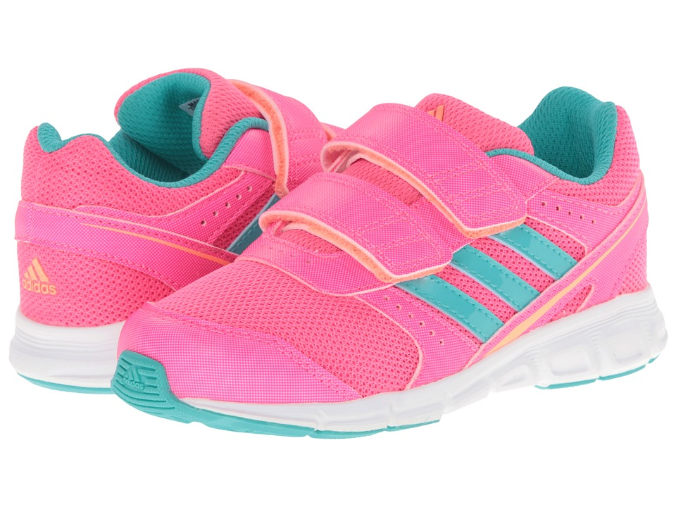 adidas Kids - Hyperfast CF I (Toddler) (Solar Pink/Vivid Mint/Flash Orange) Girls Shoes