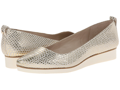 Calvin Klein - Esme (White Gold) Women's Flat Shoes