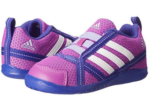 adidas Kids - NatWeb I (Toddler) (Flash Pink/White/Glow Purple) Boys Shoes