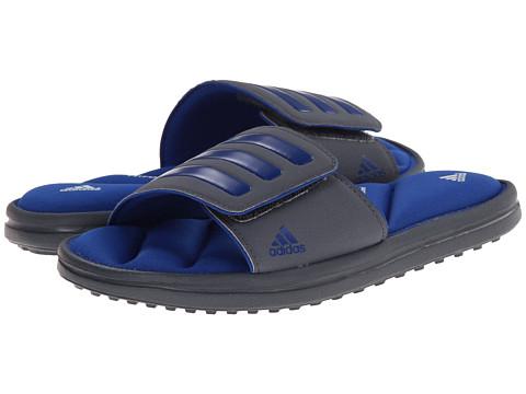 adidas Kids - Zeitfrei Slide K (Little Kid/Big Kid) (Onix/Collegiate Royal/White) Boys Shoes