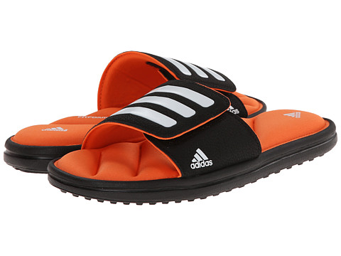 adidas Kids - Zeitfrei Slide K (Little Kid/Big Kid) (Black/White/Orange) Boys Shoes