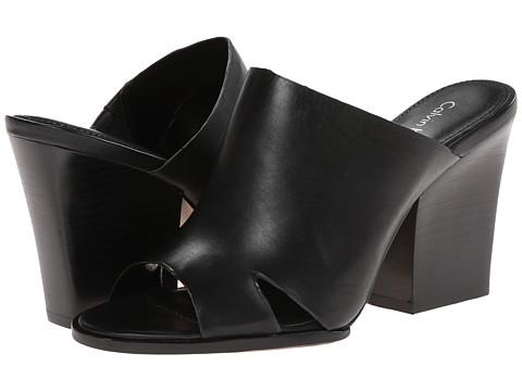 Calvin Klein - Weslia (Black Cow Roma) Women's Clog/Mule Shoes