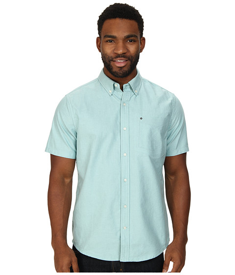 Hurley - Ace Oxford 2.0 S/S (Artisan Teal) Men's Short Sleeve Button Up